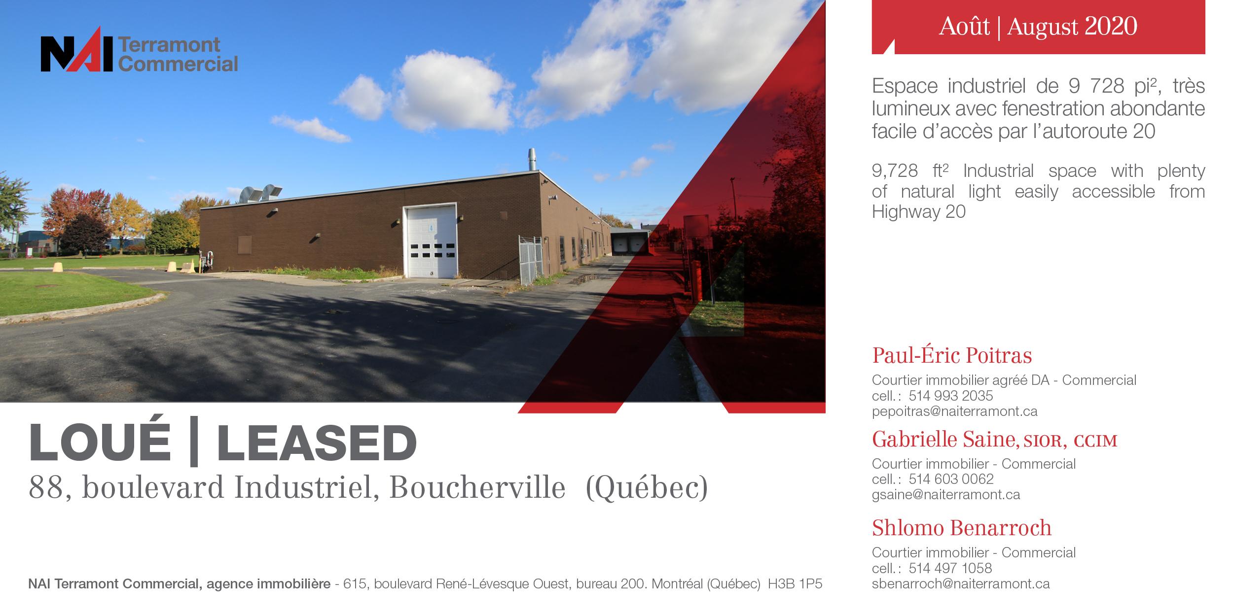 88_Boulevard Industriel_PEP-GSA-SBE_ LOUÉ